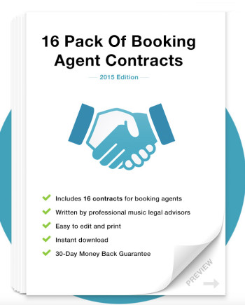 Music Law Contracts - Booking Agent Contract Pack