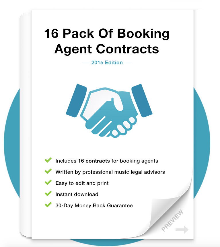 Booking Agent Contract Pack – Agent Contract Agreement