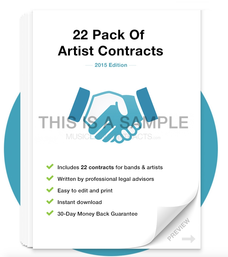 Artist / Band Contract Template Pack | Musiclawcontracts